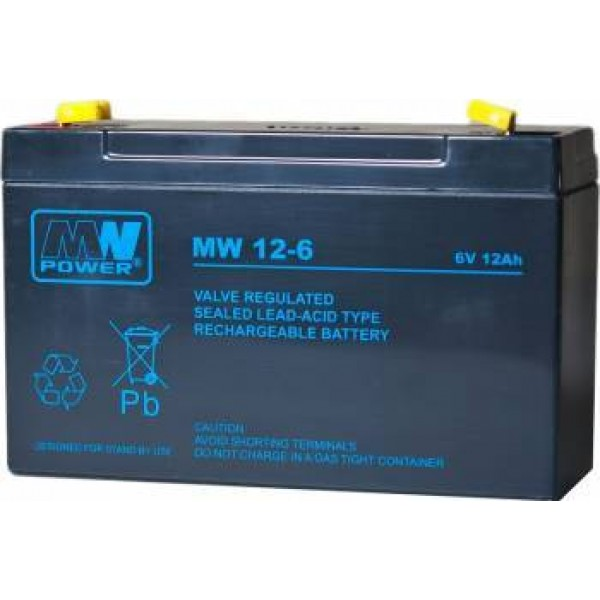 ACUMULATOR 12AH/6V MW POWER