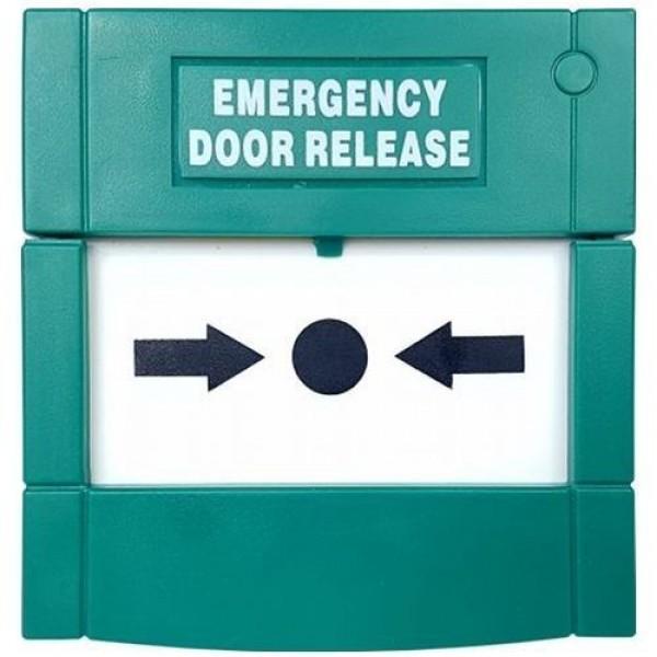 Accesoriu control acces PXW Buton exit DRB1P, Plastic, Resetabil, 1 pol