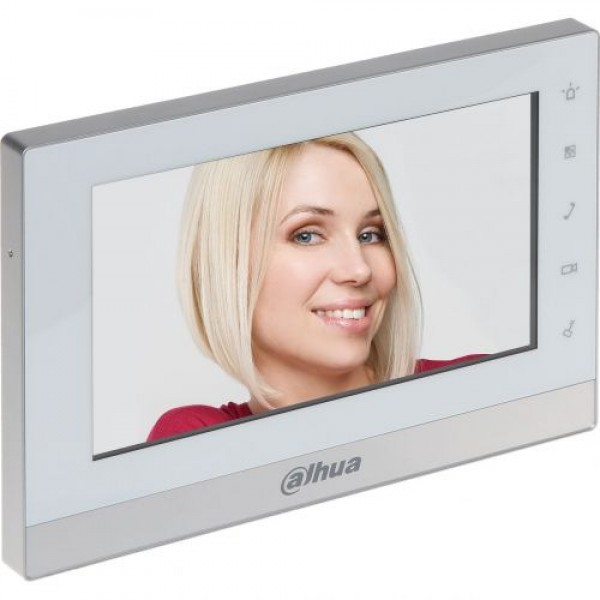 Monitor videointerfon Dahua IP VTH1550CH, LCD 7'', Slot MicroSD, Alarma, Supraveghere IPC