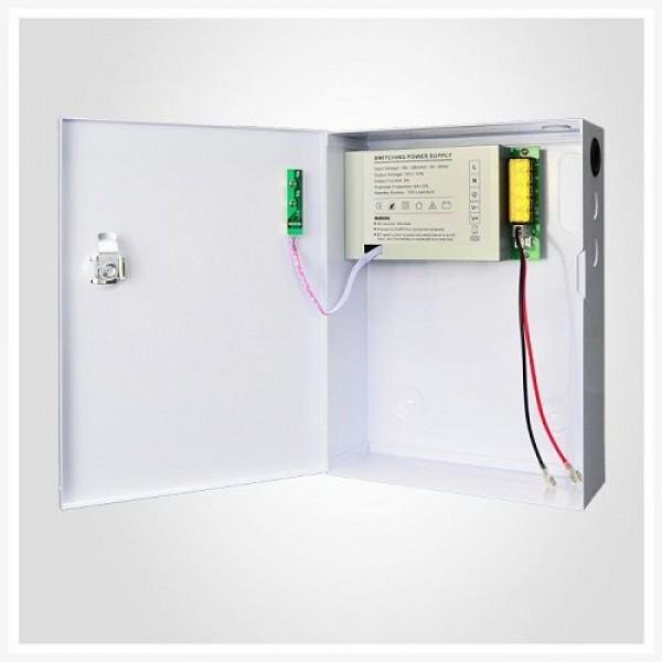 Accesoriu supraveghere PXW AQT-1205N-01B, Sursa de alimentare 12V, 5A, 1 iesire protejata cu back-up