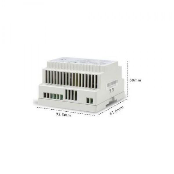 Accesoriu supraveghere PXW STD-DIN60-12UPSZ, Sursa alimentare 12V 5A 60W, montare pe sina DIN, iesire backup
