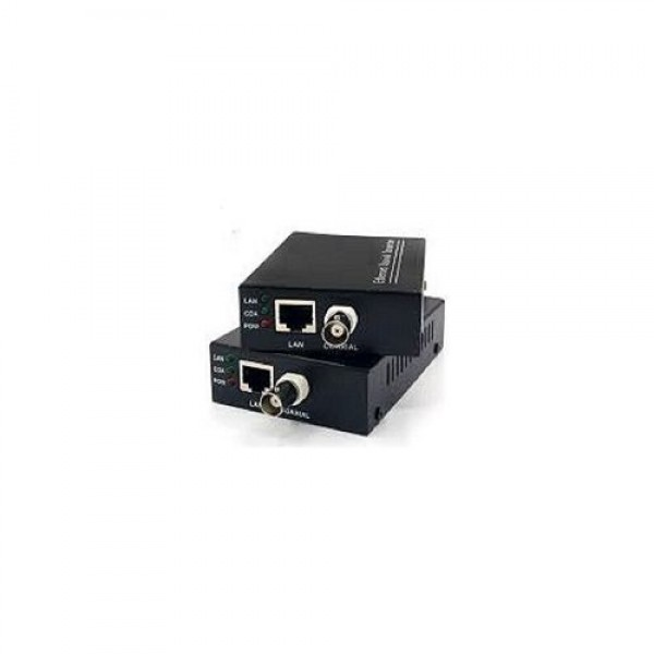 Accesoriu supraveghere PXW PW-COAX, Convertor coaxial-LAN set, 1xRJ45, 1xBNC, 3 LED-uri indicatoare, 12VDC, 30Mbps@2000m