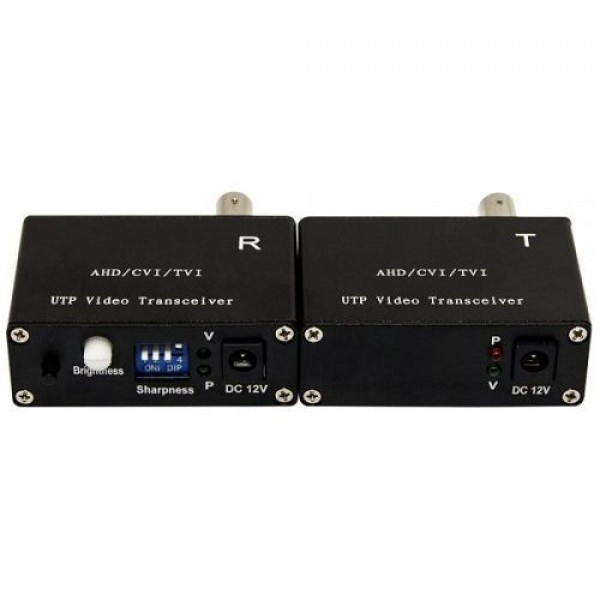 Accesoriu supraveghere PXW CM-BA1K, Set videobalun activ 4-in-1, 5MP, receptor si transmitator 1 canal video, UTP