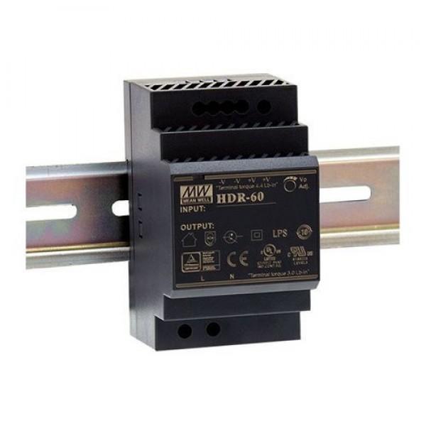 Accesoriu supraveghere Mean Well HDR-60-24 Sursa de alimentare 24V DC, 2.5A, 60W, sina DIN