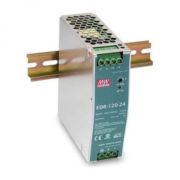 Accesoriu supraveghere Mean Well EDR-120-24 Sursa de alimentare 24V DC, 5A, 120W, sina DIN