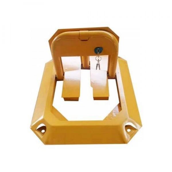 Blocator de parcare PXW PL-8A, Blocator parcare manual in 8 unghiuri 470x570x315mm, cu cheie