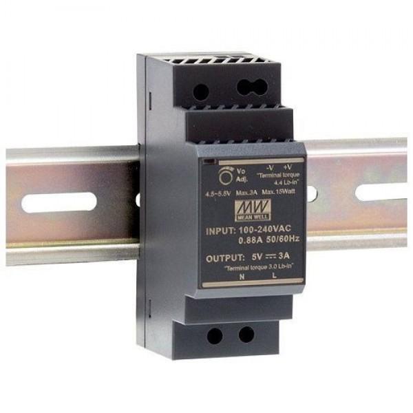 Accesoriu supraveghere Mean Well HDR-30-12 Sursa de alimentare 12V DC, 2A, 24W, sina DIN