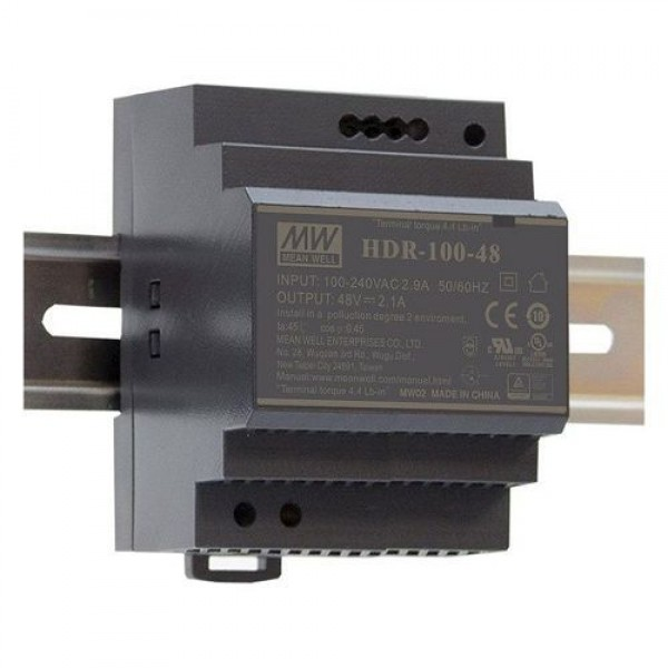Accesoriu supraveghere Mean Well HDR-100-24 Sursa de alimentare 24V DC, 3.83A, 92W, sina DIN