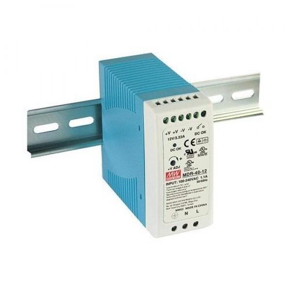 Accesoriu supraveghere Mean Well MDR-40-12 Sursa de alimentare 12V DC, 3.33A, 40W, sina DIN