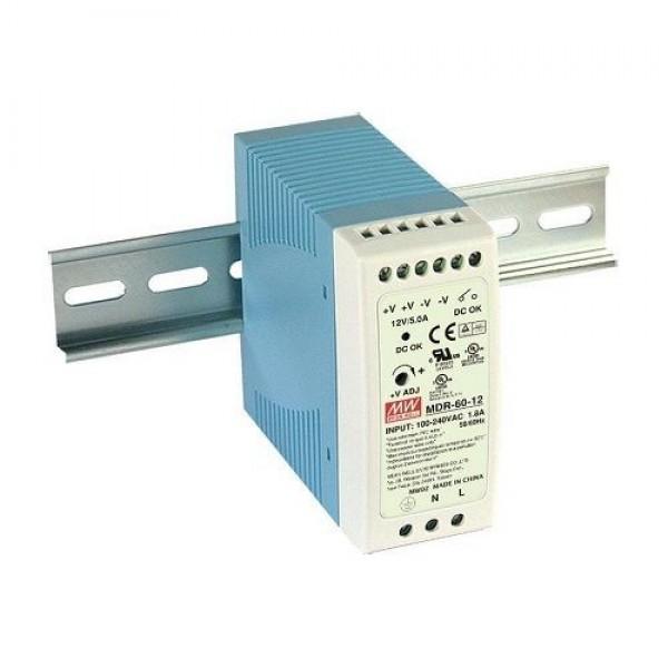 Accesoriu supraveghere Mean Well MDR-60-12 Sursa de alimentare 12V, 5A, 60W, sina DIN
