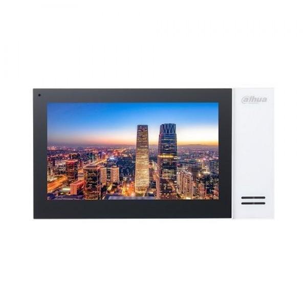 Monitor videointerfon Dahua VTH2421FB, IP touch screen 7 inch 1024x600, IPC surveillance, Audio bidirectional, Alarma 6/1, negru