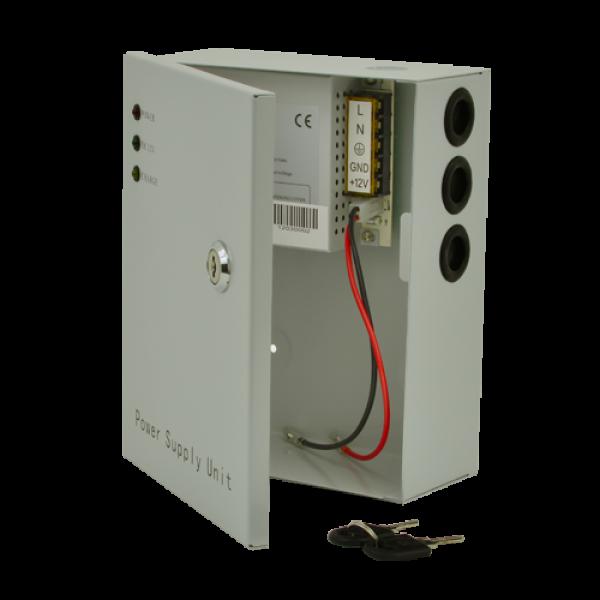 Sursa de alimentare 12V, 3A, back-up in cabinet metalic SDC-12-3B