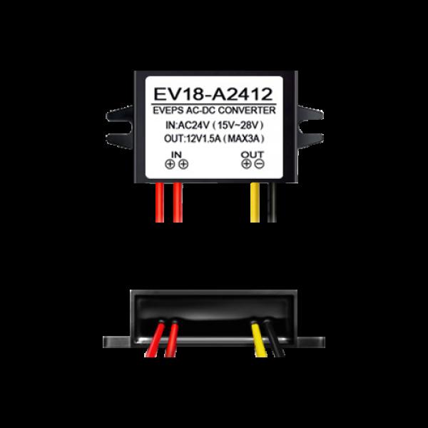 Convertor tensiune 14-28VAC la 12VDC, 1.5A EV18-A2412