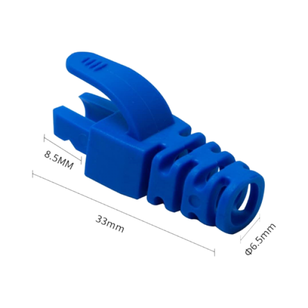 Manson protectie mufa RJ45, albastru (100buc) RJ45-CAP-BL