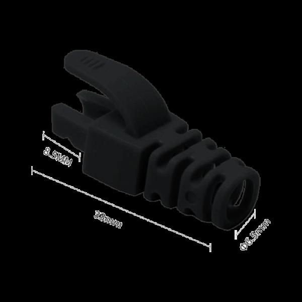 Manson protectie mufa RJ45, negru (100buc) RJ45-CAP-BK