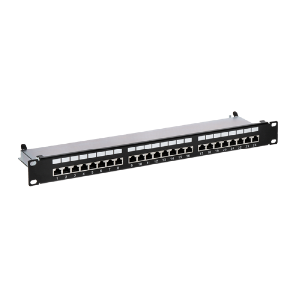 Patch Panel 1U, FTP cat6A, 24 porturi RJ45 - ASYTECH Networking ASY-PP-FTP6A-24