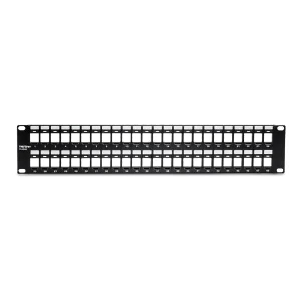 Patch Panel 48 porturi blank keystone 2U - TRENDnet TC-KP48