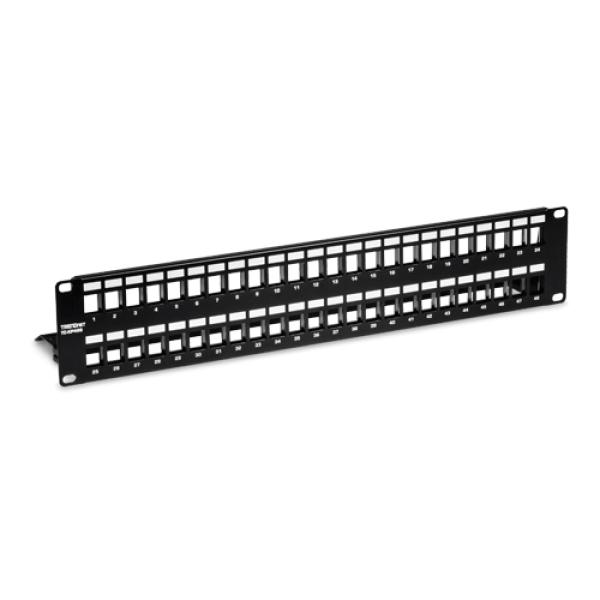 Patch Panel ecranat 48 porturi blank keystone 2U - TRENDnet TC-KP48S