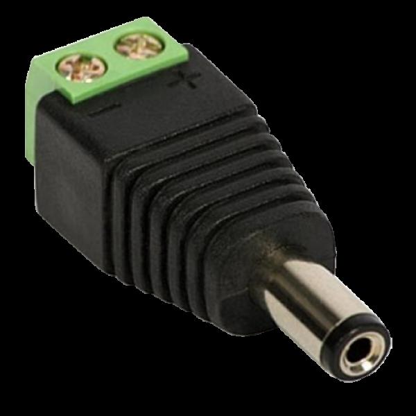 Conector de alimentare tata, 12V, cu surub SDC-CAT