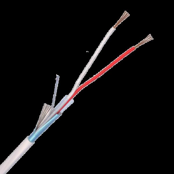 Cablu de alarma 2 fire ecranate, cupru integral, 100m 2CUEF