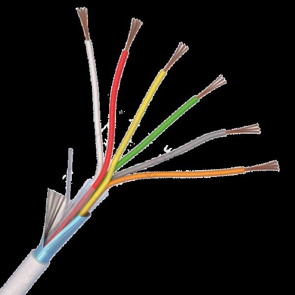 Cablu de alarma 6 fire ecranate, cupru integral, 100m 6CUEF