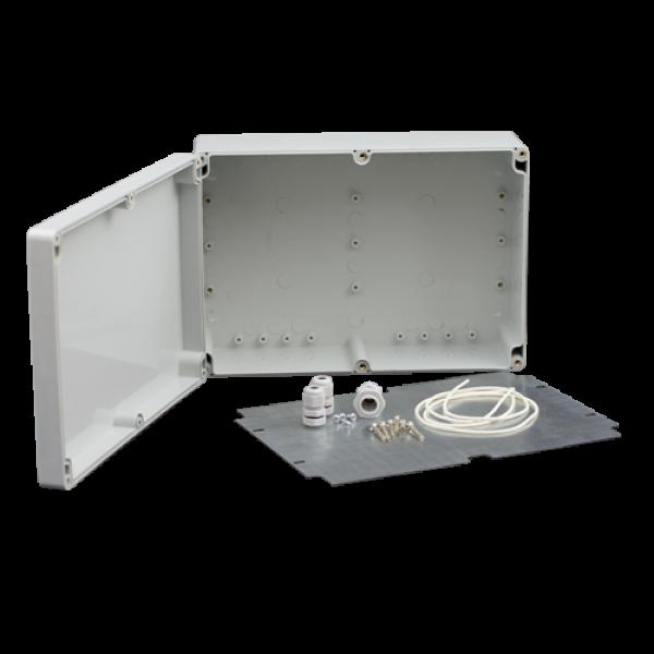 Doza exterior cu contraplaca metalica pentru montaj echipamente, AWO604