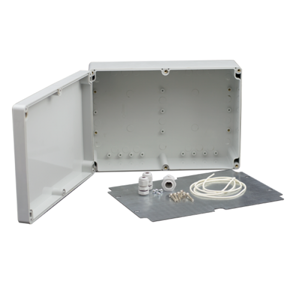 Doza exterior cu contraplaca metalica pentru montaj echipamente AWO604