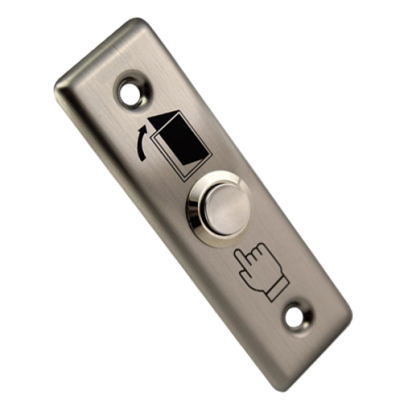 Buton de iesire NO/NC, incastrabil, din inox CSB-28D