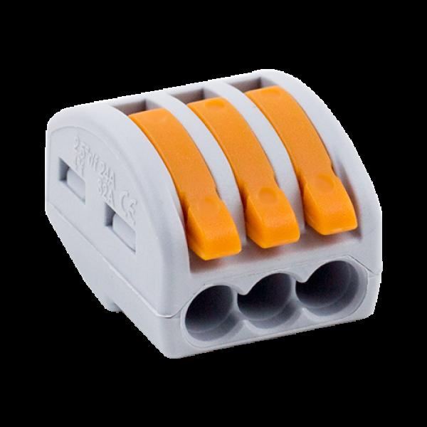 Conector derivatie tip WAGO 3 fire (10 buc.) W-413