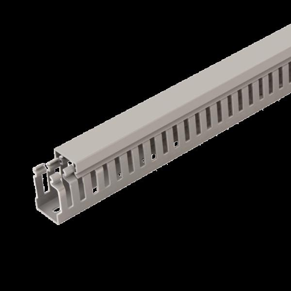 Canal cablu perforat 40x60 mm, cu capac, 2m - DLX PVCP-407-60