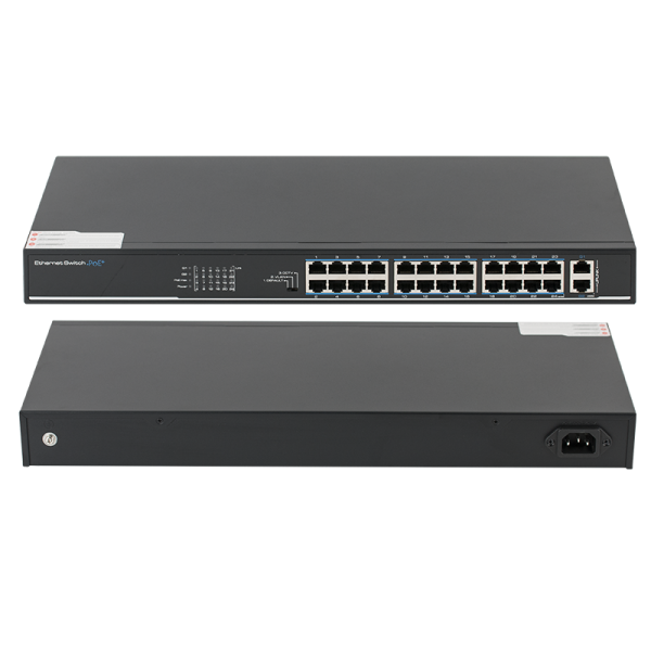 Switch 24 porturi PoE, 2 porturi uplink - UTEPO SF26P-LM
