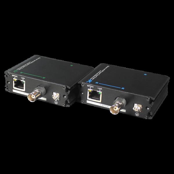 Extender date+PoE (EPOC) pe cablu Coaxial/UTP, 400-500 metri - UTEPO UTP7301EPOC