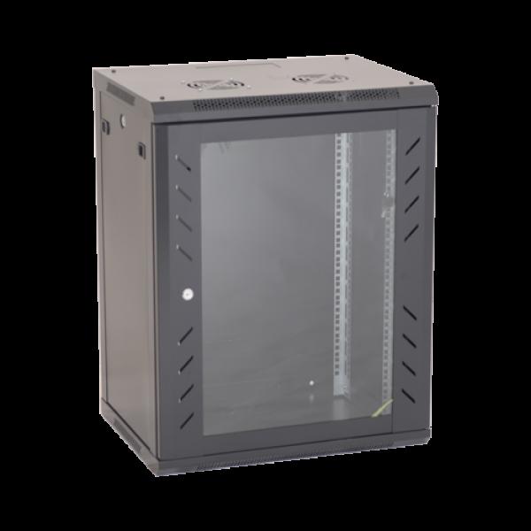 Rack perete 18U 19'' 600x450, negru - ASYTECH Networking ASY-18U-6045W