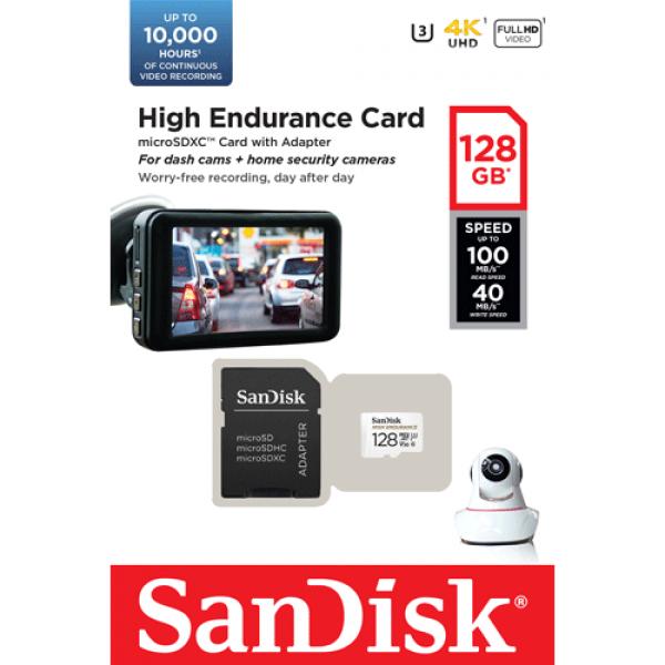 Card MicroSD 128GB, seria HIGH Endurance - SanDisk SDSQQNR-128G-GN6IA