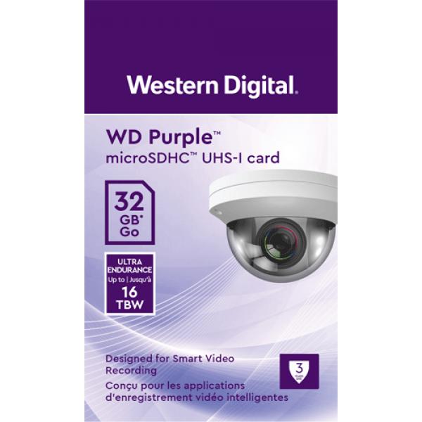 Card MicroSD 32GB, seria Purple Ultra Endurance - Western Digital WDD032G1P0C