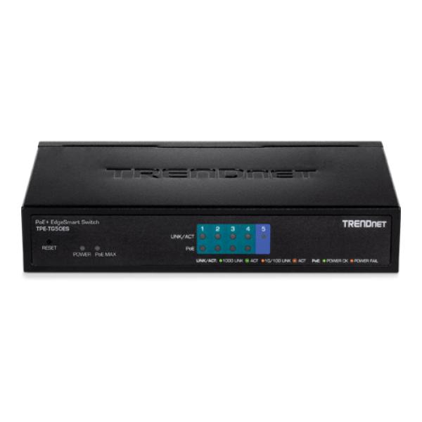 Switch 5 porturi - 4 Gigabit PoE+ 31W, 1 x Gigabit - TRENDnet TPE-TG50ES