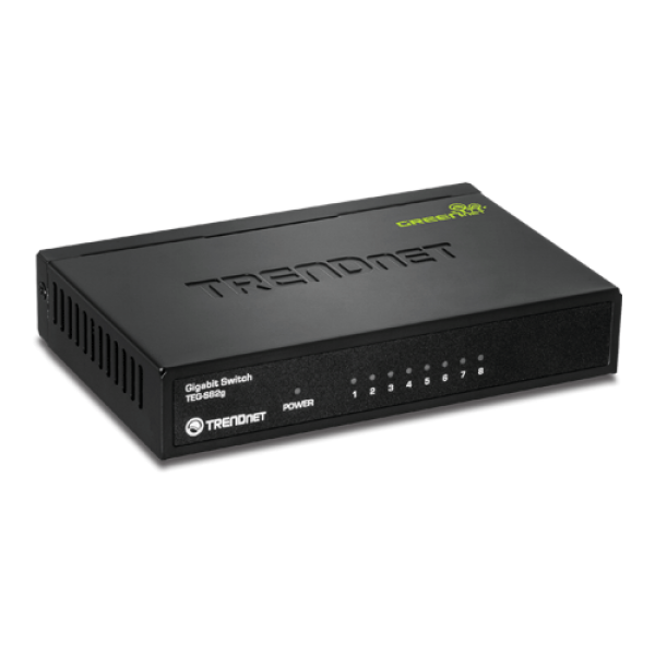 Switch GREENnet 8 porturi Gigabit - TRENDnet TEG-S82G