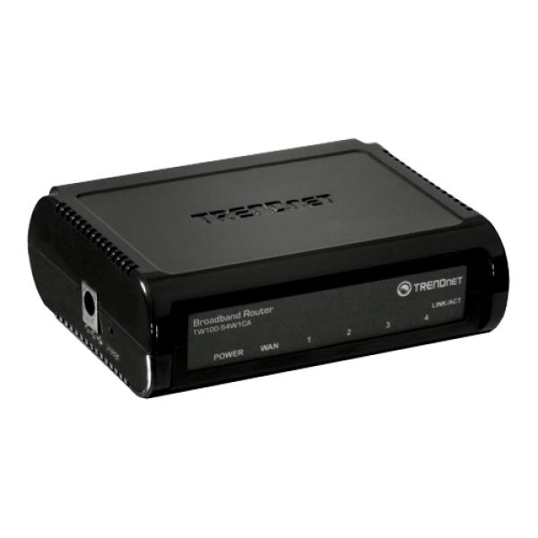 Broadband Router 4 porturi 10/100Mbps - TRENDnet TW100-S4W1CA