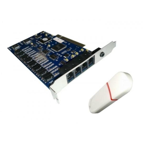 CARD PCI PENTRU INREGISTRAREA A 8 LINII TELEFONICE