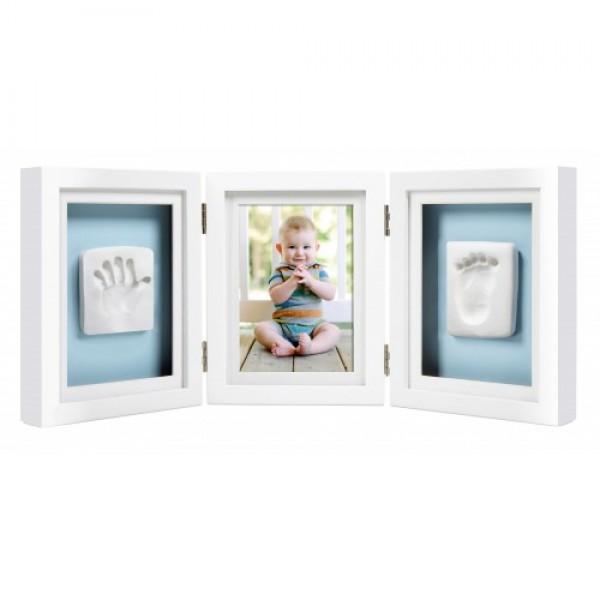 Pearhead - Kit rama foto tripla cu amprente manuta si piciorus