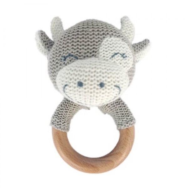 Baby Hug - Jucarie crosetata pentru dentitie - model vacuta