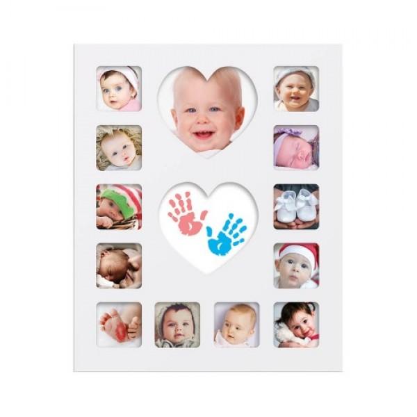 Happy Hands - Rama foto primul an cu amprente bebe
