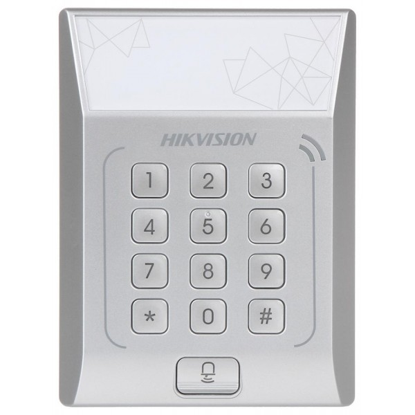 Cititor control acces stand alone DS-K1T801M, cu tastatura