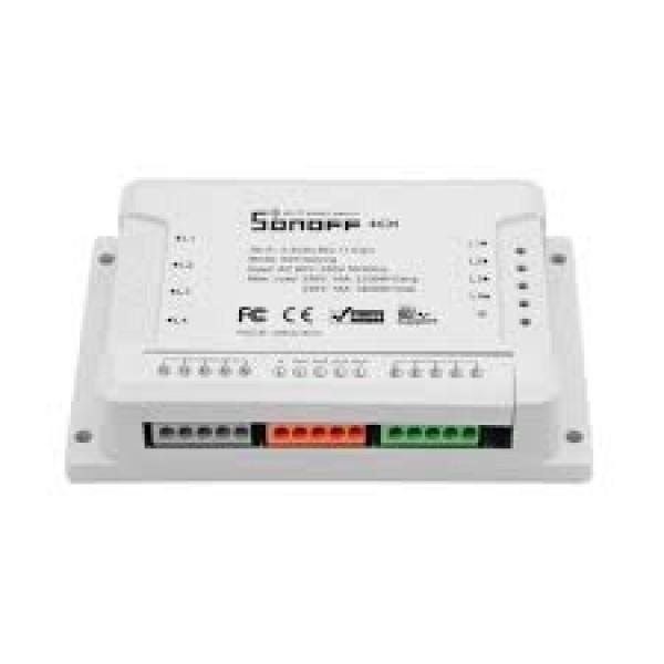 Comutator wireless care suportă până la 4 dispozitive, SONOFF-4CH-R2