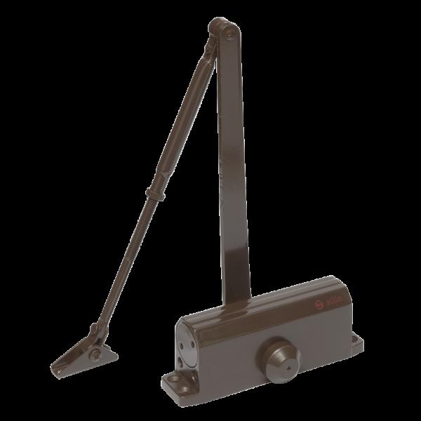 Amortizor hidraulic cu brat, pentru usi de 40-65kg, maro