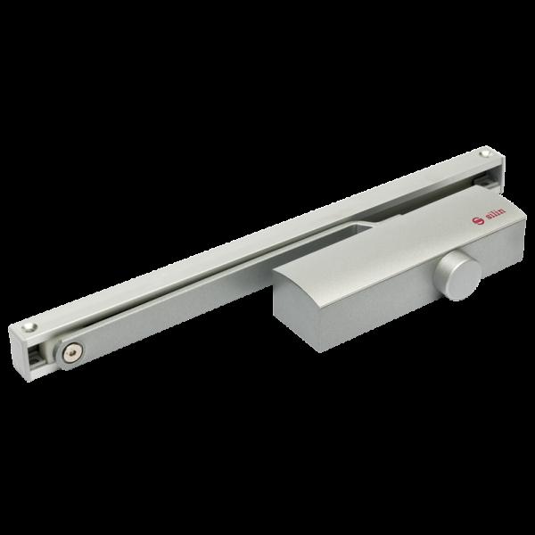 Amortizor hidraulic cu sina, pentru usi de 40-65kg, argintiu