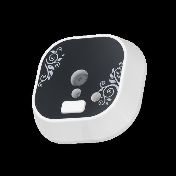 Vizor electronic cu ecran color TFT si buton pentru sonerie (alb)