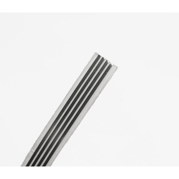 Cablu transparent autoadeziv -  metru