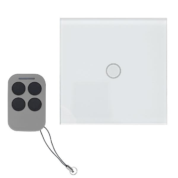 Intrerupator simplu cu actionare la atingere (touch) si telecomanda RF