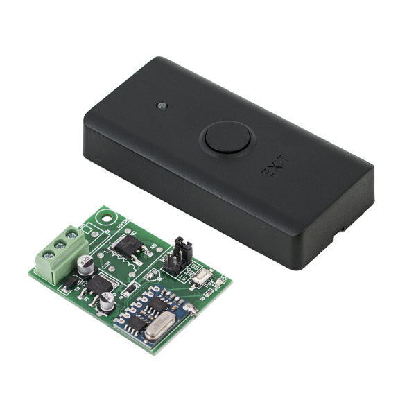 Buton de acces cu comunicatie wireless, contact umed +12Vcc